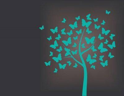Sticker Baum von Schmetterlingen gemacht