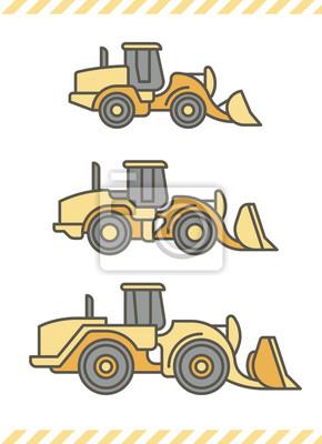 Baumaschinen: Radlader (Farbe)