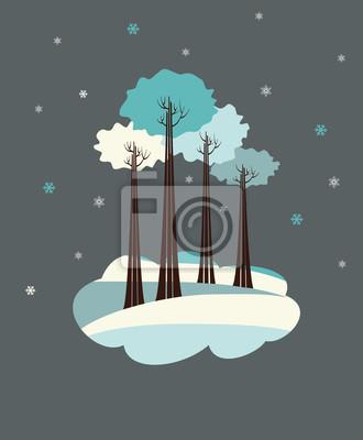 Bäume im Winter.