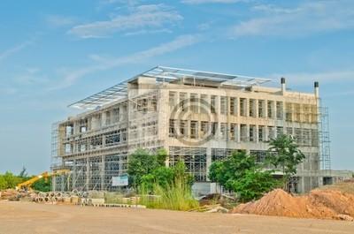 Baustelle der großen Hochbau