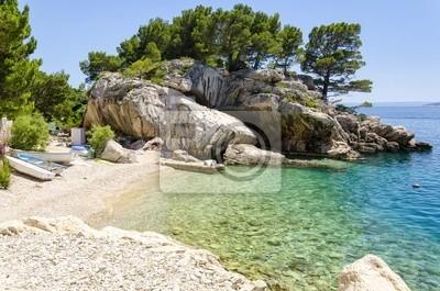 beach in Brela on Makarska Riviera, Dalmatia, Croatia