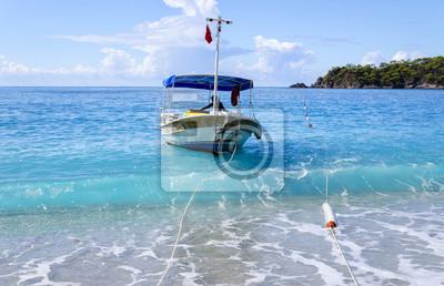 beach in popular turkish resort - Oludeniz