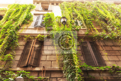 beautiful architecture in old part of Rome, Italy