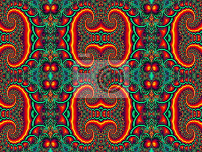 Beautiful Background with Spiral Pattern. Red and green palette.