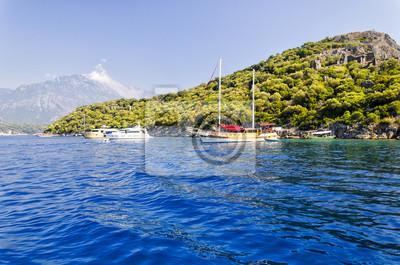 beautiful coast in popular turkish resort - Oludeniz