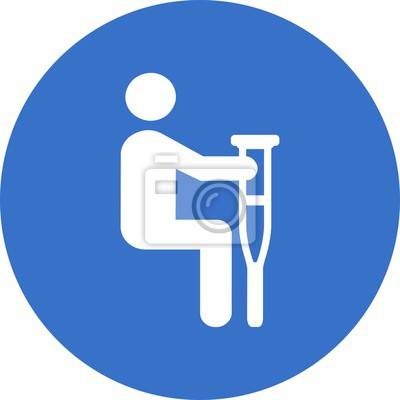 Sticker Behinderten Symbol