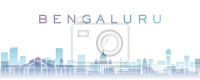 Bengaluru Transparent Layers Gradient Landmarks Skyline