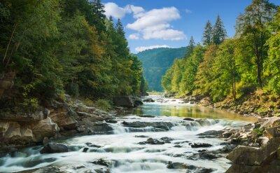 Sticker Berg-Fluss