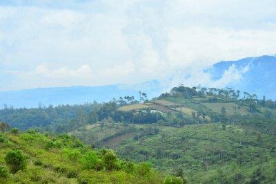 Berg in Garut, West-Java, Indonesien.