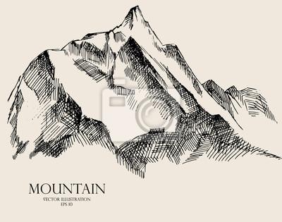 Berg Skizze Vektor