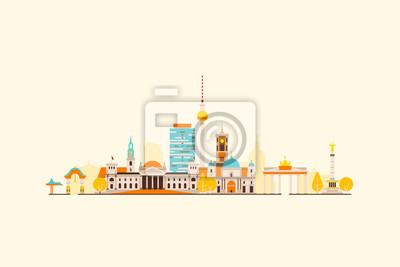 Berlin abstrakten Skyline