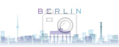 Berlin Transparent Layers Gradient Landmarks Skyline