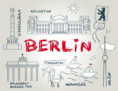 Sticker Berlin, Wahrzeichen, illustration