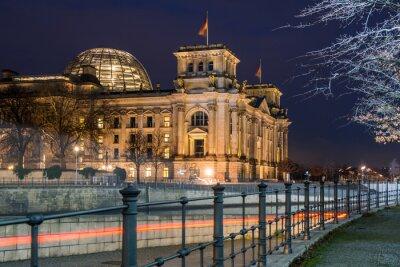 Sticker Berliner Reichstag in der Nacht