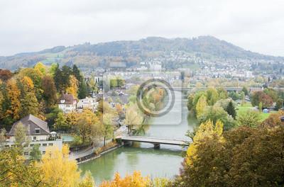 Bern, die Schweiz, Swiss; aar, Aare, Fluss, bunte, Wasser,
