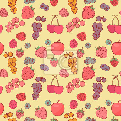 Berry background vector drawing