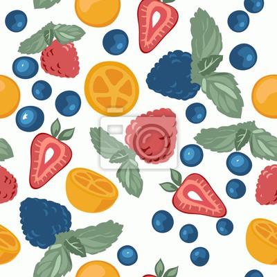 Berry Muster mit Früchten