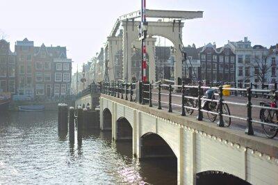 Sticker Berühmte Magere Brug, Amsterdam