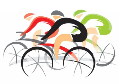 Sticker Bicycle Race
