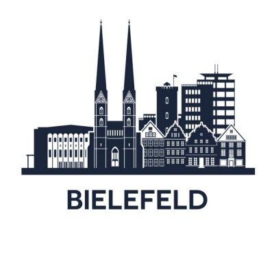 Sticker Bielefeld Skyline Emblem