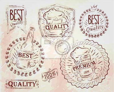 Bierqualität Elemente braun
