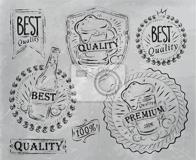 Bierqualität Elemente grau
