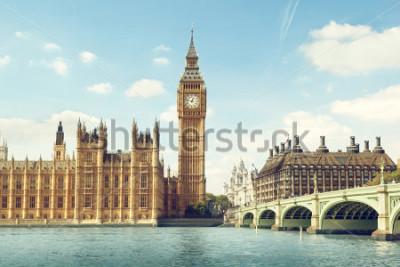 Sticker Big Ben in sunny day, London