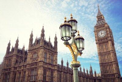 Sticker Big Ben und die Häuser des Parlaments in London