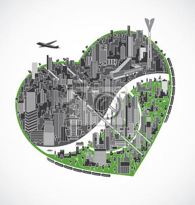 Big Stadt Illustration