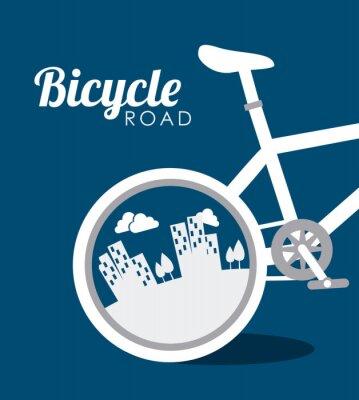Sticker Bike-Design, Vektor-Illustration.