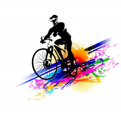 Sticker Biker Sport. Vektor-Illustration