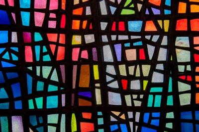 Sticker Bild eines mehrfarbigen Glasfenster