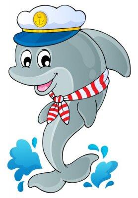 Sticker Bild mit Delphin Thema 1