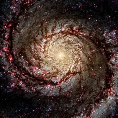 Sticker Bild von Galaxy-System isoliert Elemente dieses Bildes von der NASA eingerichtet