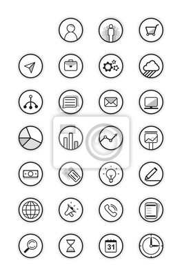 Black icons Vektor-Sammlung