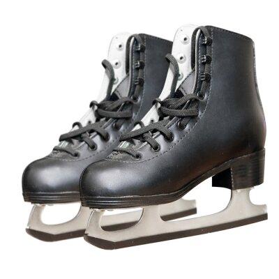 Sticker Black skate isoliert auf weißem Hintergrund