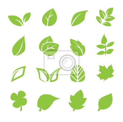 Sticker Blatt-Symbol