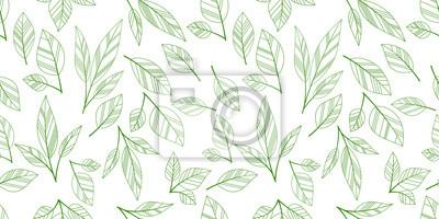 Sticker Blätter nahtlose Hintergrund