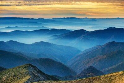 Sticker Blaue Berge und Hügel
