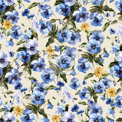 Blaue Blumen 5