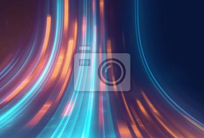 Sticker blaue geometrische Form abstrakte Technologie Hintergrund