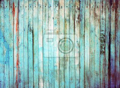 Blaue Holzstruktur. Hintergrund alte Tafeln.