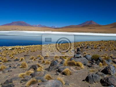 Sticker Blaue Lagune von Altiplano in Bolivien