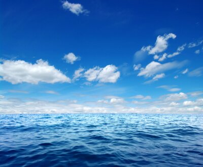 Sticker Blaue Meerwasseroberfläche