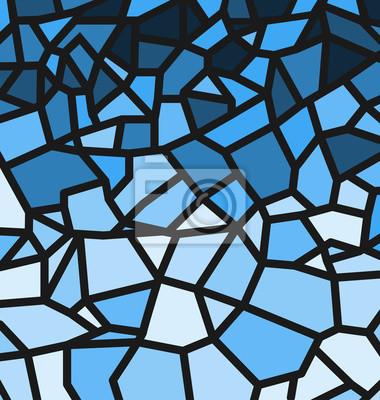 Blaues Trencadis-Muster