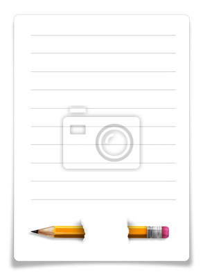 Bleistift auf Papier, Notizblock