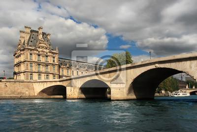 Blick auf den Damm des Flusses Seine, Paris