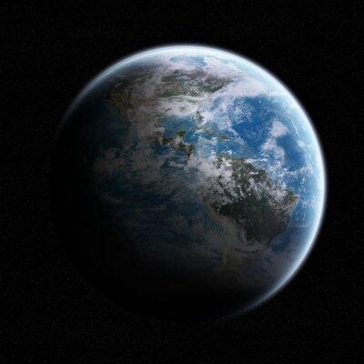 Sticker Blick auf den Planeten Erde im Raum