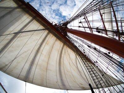 Sticker Blick auf Segel auf einer Tallship