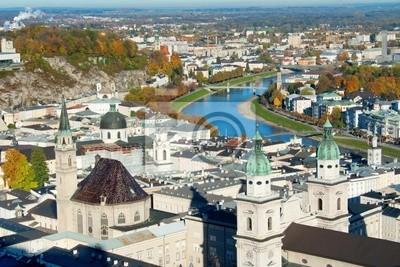 Blick über Altstadt in Salzburg